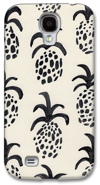 B And W Pineapple Print Galaxy S4 Case by Anne Seay