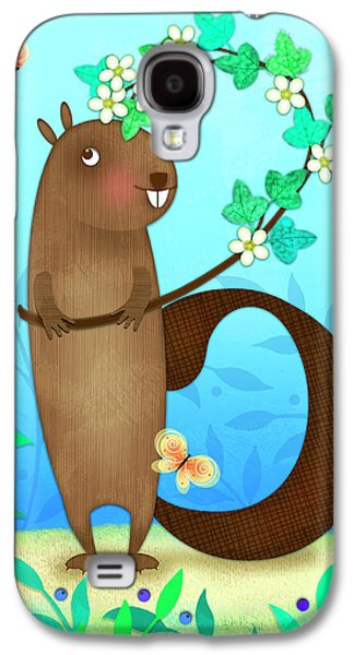 B Is For Beaver With A Blossoming Branch Galaxy S4 Case