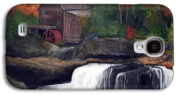 Grist Mill Paintings Galaxy S4 Cases - Babcock Mill Galaxy S4 Case by Timothy Smith