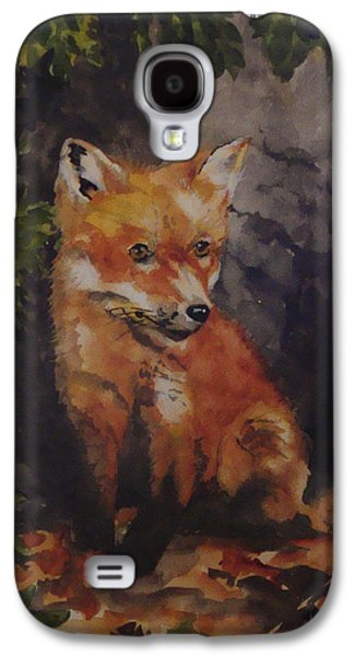 Fox Kit Paintings Galaxy S4 Cases - Babe In The Woods Galaxy S4 Case by Jean Blackmer