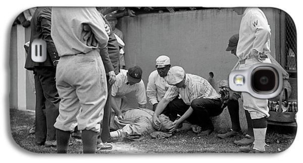 Babe Ruth Knocked Out By A Wild Pitch Galaxy S4 Case