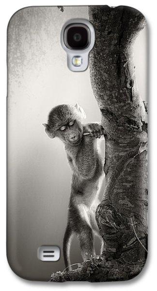 Baby Baboon Galaxy S4 Case by Johan Swanepoel