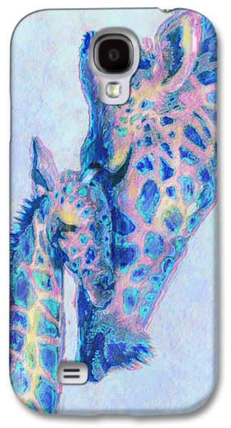 Baby Blue  Giraffes Galaxy S4 Case by Jane Schnetlage