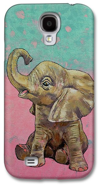 Baby Elephant Galaxy S4 Case by Michael Creese