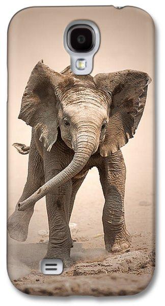 Baby Elephant Mock Charging Galaxy S4 Case by Johan Swanepoel