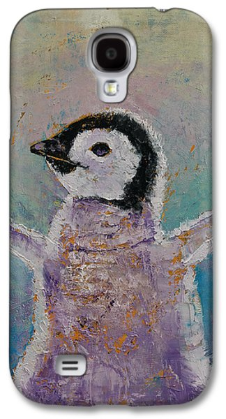 Baby Penguin Galaxy S4 Case by Michael Creese