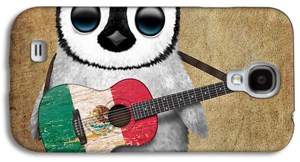 Baby Penguin Playing Mexican Flag Guitar Galaxy S4 Case