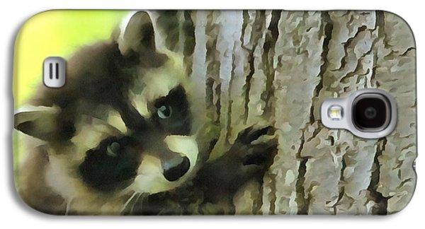 Baby Raccoon In A Tree Galaxy S4 Case by Dan Sproul