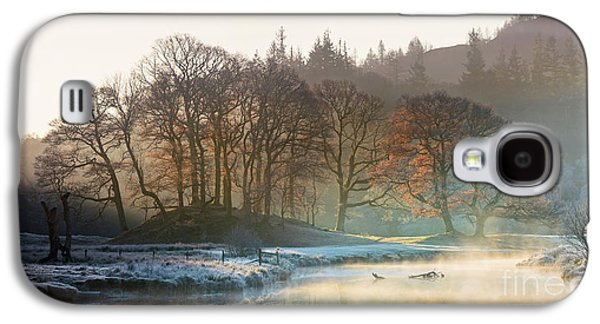 Backlit Trees On The River Brathay Galaxy S4 Case by Tony Higginson