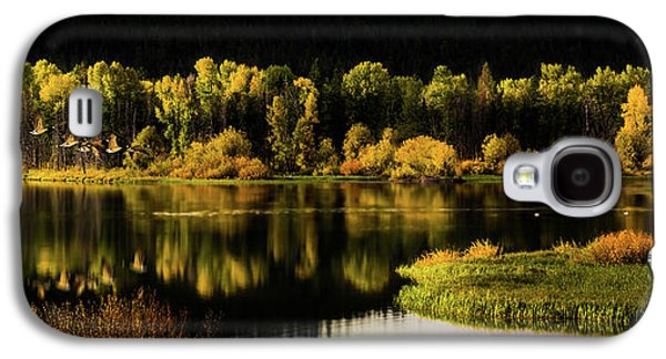 Backwater Blacks At Oxbow Bend Galaxy S4 Case by TL Mair