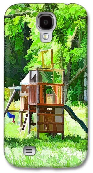 Backyard With Wooden Playground  Galaxy S4 Case by Lanjee Chee