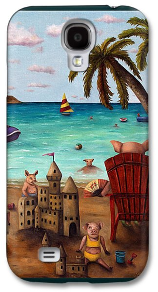 Bacon Shortage With Lettering Galaxy S4 Case by Leah Saulnier The Painting Maniac