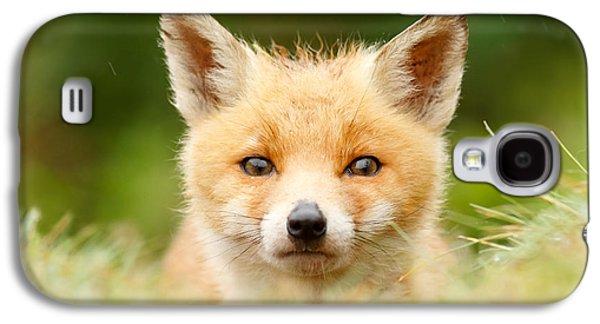 Bad Fur Day - Fox Cub Galaxy S4 Case by Roeselien Raimond