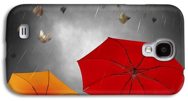 Abstract Rain Galaxy S4 Cases - Bad Weather Galaxy S4 Case by Carlos Caetano