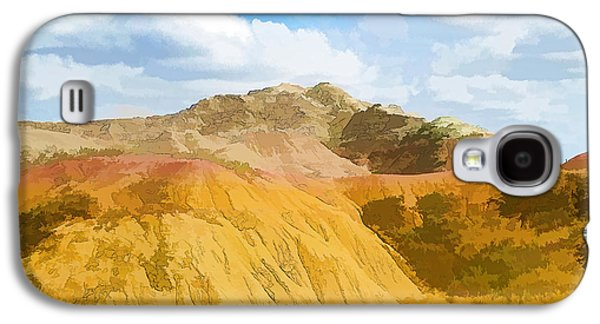 Badlands National Park Abstract Galaxy S4 Case by Jennifer Stackpole