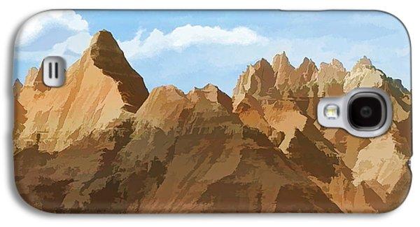Badlands Peaks Galaxy S4 Case by Jennifer Stackpole