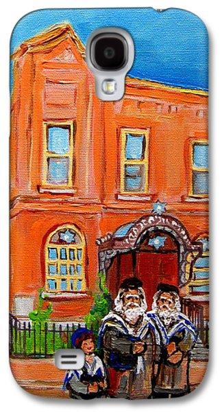 Bagg Street Synagogue Sabbath Galaxy S4 Case by Carole Spandau