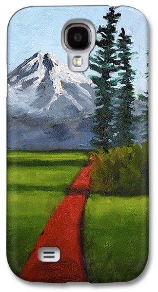 Galaxy S4 Case featuring the painting Baker Meadow by Nancy Merkle