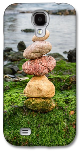 Balancing Zen Stones By The Sea Iv Galaxy S4 Case
