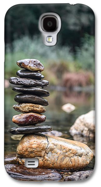 Balancing Zen Stones In Countryside River I Galaxy S4 Case