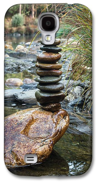 Balancing Zen Stones In Countryside River Vi Galaxy S4 Case by Marco Oliveira