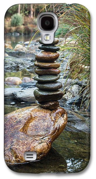Balancing Zen Stones In Countryside River Vi Galaxy S4 Case