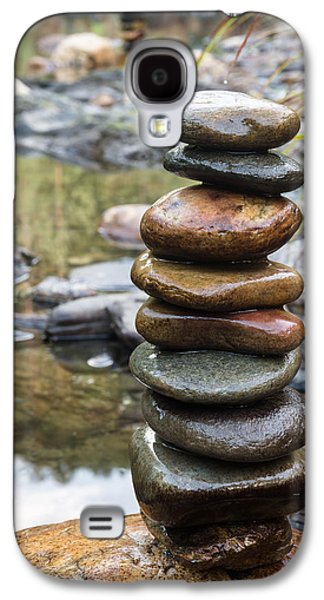 Balancing Zen Stones In Countryside River Vii Galaxy S4 Case