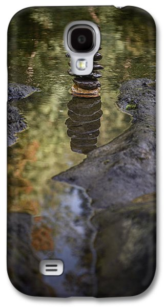 Balancing Zen Stones In Countryside River X Galaxy S4 Case by Marco Oliveira