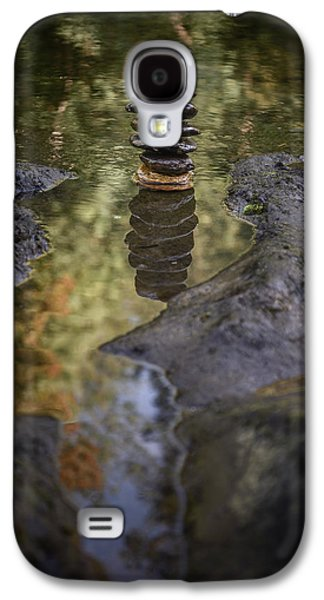 Balancing Zen Stones In Countryside River X Galaxy S4 Case