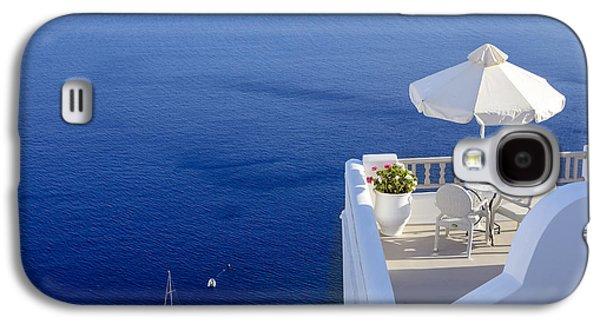 Chair Galaxy S4 Cases - Balcony Over The Sea Galaxy S4 Case by Joana Kruse