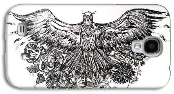 Bald Eagle And Flowers Galaxy S4 Case by Kremena Petkova