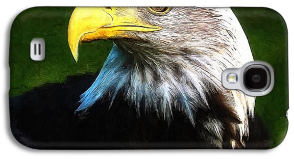 Bald Eagle Face Galaxy S4 Case by Dan Sproul