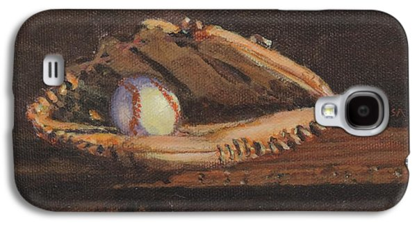 Ball And Glove Galaxy S4 Case by Bill Tomsa