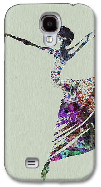 Ballerina Dancing Watercolor Galaxy S4 Case by Naxart Studio