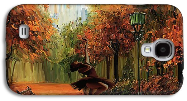 Ballerina In The Park  Galaxy S4 Case by Gull G