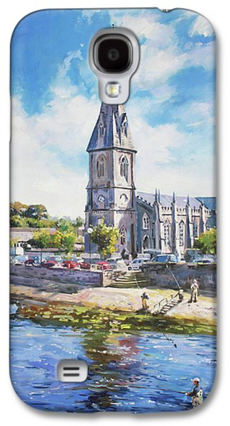 Reflections In Water Galaxy S4 Cases - Ballina Cathedral on River Moy Galaxy S4 Case by Conor McGuire
