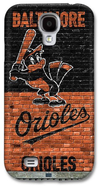Baltimore Orioles Brick Wall Galaxy S4 Case