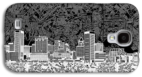 Baltimore Skyline Abstract 12 Galaxy S4 Case by Bekim Art
