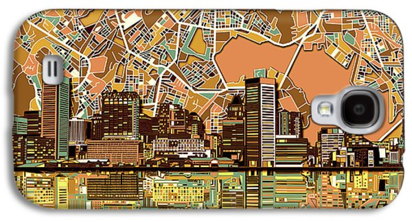 Baltimore Skyline Abstract 2 Galaxy S4 Case by Bekim Art