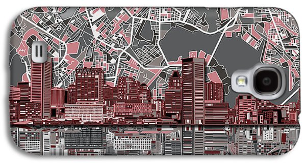 Baltimore Skyline Abstract Galaxy S4 Case by Bekim Art