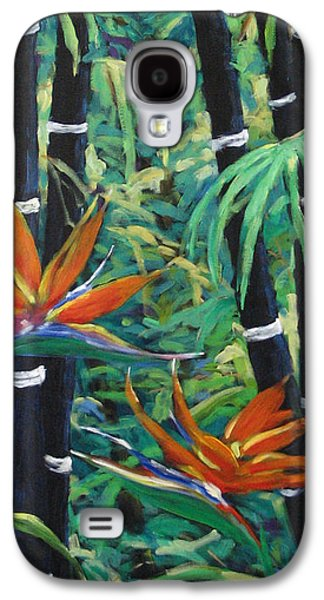 Bamboo And Birds Of Paradise Galaxy S4 Case by Richard T Pranke