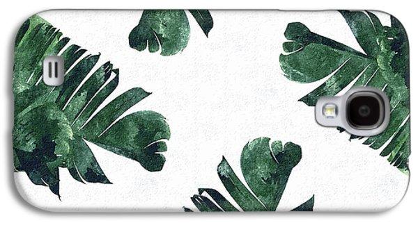 Banan Leaf Watercolor Galaxy S4 Case by Uma Gokhale