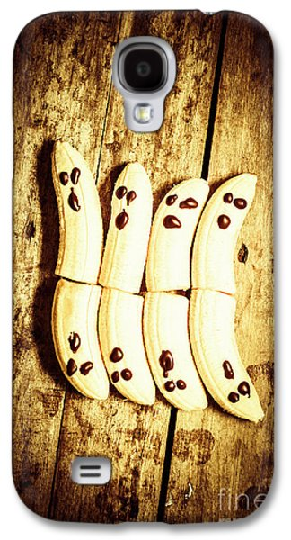 Banana Ghosts Looking To Split At Halloween Party Galaxy S4 Case by Jorgo Photography - Wall Art Gallery