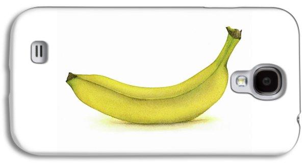 Banana Watercolor Galaxy S4 Case by Taylan Apukovska