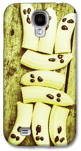 Bananas With Painted Chocolate Faces Galaxy S4 Case