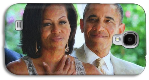 Barack And Michelle Obama Galaxy S4 Case by Asar Studios