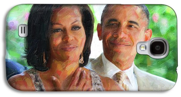 Barack And Michelle Obama Galaxy S4 Case by Celestial Images