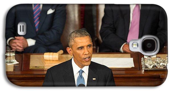 Barack Obama 2015 Sotu Address Galaxy S4 Case by Science Source