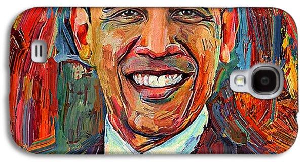 Barack Obama Portrait 2 Galaxy S4 Case by Yury Malkov