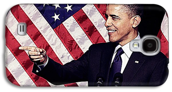 Barack Obama Galaxy S4 Case by Iguanna Espinosa